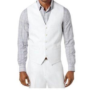 NWT Perry Ellis Men's Big and Tall Linen  Vest